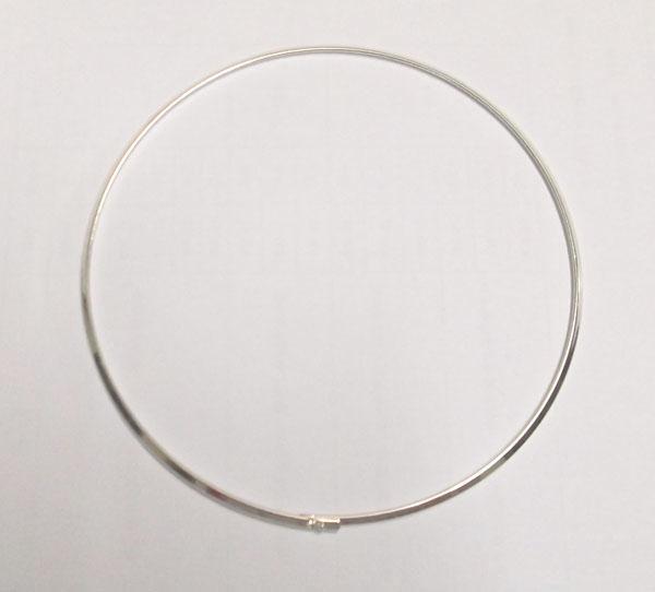 10 unids / lote chapado de gargantilla de gargantilla chapado alambre de cordón para el regalo de joyería de DIY Craft 18 pulgadas W18
