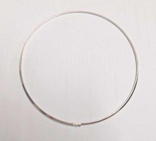 / Argento placcato girocollo collana cavo cavo il regalo di gioielli artigianale fai da te 18 pollici W18
