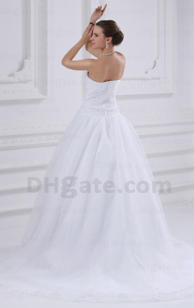 Baljurk trouwjurk witte kleur organza echte afbeelding foto