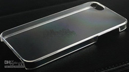 Wholesale Diy Hard Iphone Cases - New arrival DIY Hard Plastic PC clear crystal transparent skin Ultra Thin back cover case for iphone 4 5
