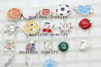 Wholesale New Designs For Glass Memory - 180 pcs new designs floating charms for glass memory living floating locket pendant Xmas gift, no locket