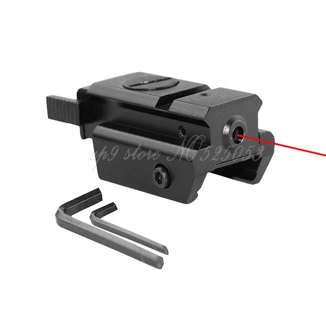 Tactical Hunting Mini Red Dot Laser Sight para pistola con fondo inferior de 20 mm