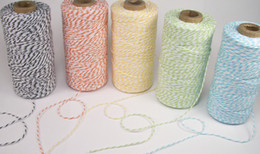 Wholesale Eco Friendly Paper Packaging - PROMOTION Eco-Friendly PRODUCT FOR PARTY 12Ply 100%Cotton Bakers Twine(110yard spool) For Gift Packaging FREE SHIPPING