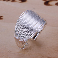 Wholesale Silver 925 Ring Price - TOP Selling 925 Silver Ring Jewelry Multi Link Style Silver Ring Fashion Women Rings Adjustable Size Ring Factory Price