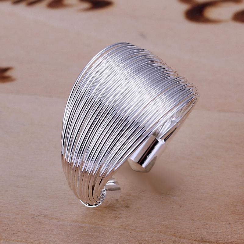 أعلى بيع 925 خاتم الفضة والمجوهرات موضوع رابط نمط خاتم الفضة أزياء المرأة خواتم قابل للتعديل حجم الطوق سعر المصنع