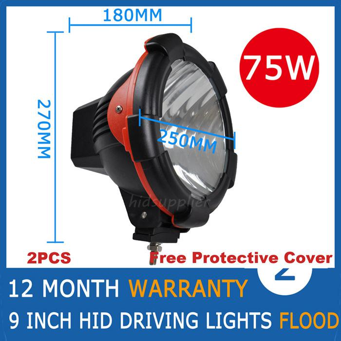"9"" 35W 55W 75W HID Xenon Driving Light Spot / Flood Beam SUV ATV Off-Road 4WD 4x4 9-36V 3200lm IP67 H3 Jeep Truck Fog Lamp High Power"
