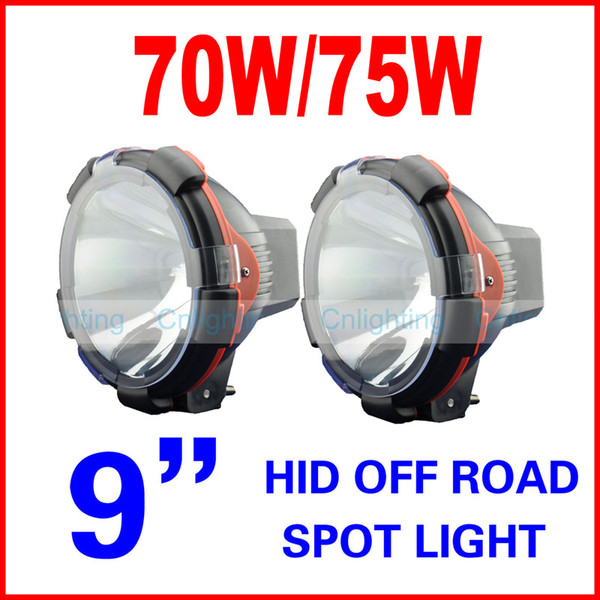 "2pcs 9"" inch 70W 75W HID Xenon Driving Light Spot / Flood Beam SUV ATV Off-Road 4WD 4x4 9-36V 3200lm IP67 H3 Jeep Truck Fog Lamp High Power"