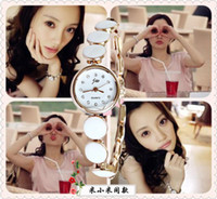 Wholesale Cheap Ceramic Watches Wholesale - Fashion Modern Women Lady Watches Diamond Girl Watch Korean Type Chess Bracelet Lady Girl Gift Cheap Fine 4 Color Mix Order 7PCS LOT