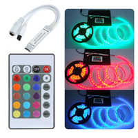 Wholesale Dimmer Remote Control - 5-24V 24 Key Wireless IR Remote Control RGB LED Mini Controller Dimmer for LED Strip 5050 3528 3 channels Free Shipping