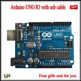 Wholesale Arduino Board Usb - 2015 NEW Arduino UNO R3 Board ATmega328 ATMEGA8U2 with USB cable