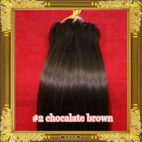 """Wholesale - -300S/lot 12""""- 26"""" Micro rings/loop remy Human Hair Extensions hair extention, #2 dark brown ,1g/s"""