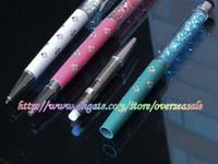 Wholesale Mini Stylus Pens Galaxy S3 - Bling Starry Crystal Diamond screen Capacitive Touch Stylus ball Pen for Galaxy S2 S3 S4 iphone 3 3GS 4G 4 4S 5 5G ipod IPAD mini 5pcs 10pcs