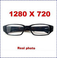 Wholesale Video Postings - HK POST Free Shipping 1280x 720P 5 mega pixels CMOS pinhole spy sunglasses camera, glasses dvr,glasses spy video