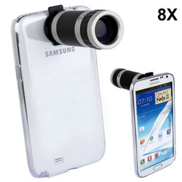 Wholesale Covers Galaxy Zoom - New 8X Optical Zoom Mobile Phone Telescope Camera Lens Crystal Case Cover for Samsung Galaxy Note II 2 N7100 Free Shipping
