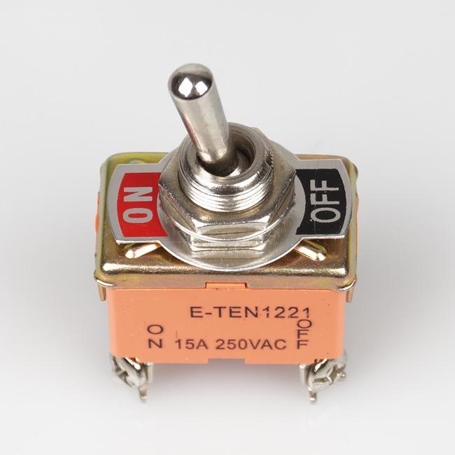 / Envío gratis DPST ON / OFF interruptores de palanca industriales 1221 doble polo de un solo tiro # BV191 @CF
