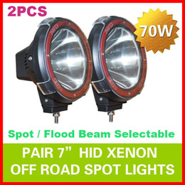 "Wholesale Driving Spot - 2pcs 7"" 70W 75W HID Xenon Driving Light Off-Road SUV ATV 4WD 4x4 Spot Flood Beam 9-32V H3 6000K IP67 Jeep Truck Fog Lamp Super bright Power"