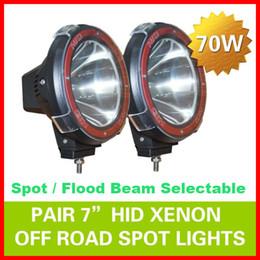 "Wholesale Super 4x4 Hid Lights - EMS 2pcs 7"" 70W 75W HID Xenon Driving Light Off-Road SUV ATV 4WD 4x4 Spot Flood Beam 9-32V H3 6000K IP67 Jeep Truck Lamp Super bright Power"