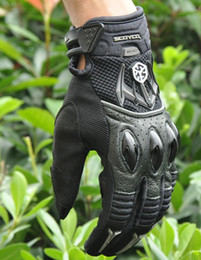 Wholesale Advance Gloves - SCOYCO MC40 MOTO racing gloves Motorcycle gloves advanced protective gloves full finger gloves moto off-road gloves motorbike gloves Black