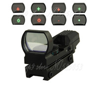 Wholesale Reflex Sight Green Reticle Hunting - Tactical 1X22X33 Holographic 4 Reticle Reflex Red Green Dot Sight 20mm Rail for Airsoft Hunting Rifle Scope