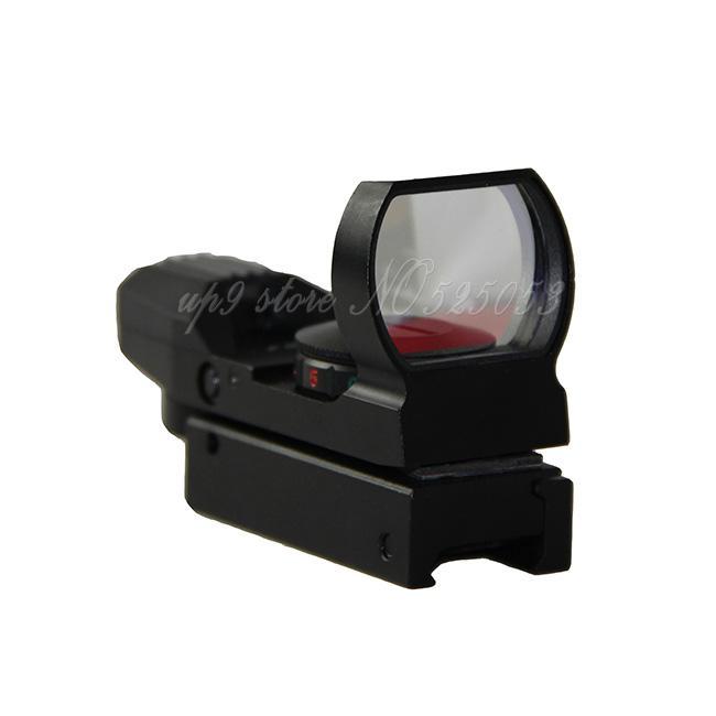 Táctica 1X22X33 holográfico 4 retículo Reflex Rojo Verde punto de la vista de 20mm / 11mm Rail para la caza de Airsoft del alcance del rifle