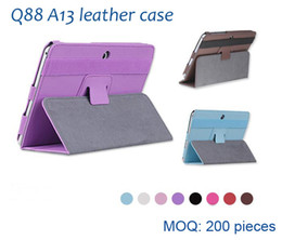 2019 cobre mini silicone comprimido Venda por atacado - freeshipping 7 polegadas 7 '' 7 polegadas estojo de couro multi-color PU capa de couro para Q88 tablet pc