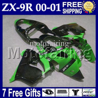 7gifts For KAWASAKI NINJA 00 01 ZX9R HOT Green black MF#1747...