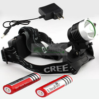 Wholesale Bicycle light headlamp Lumens CREE XM L T6 LED Headlamp Headlight x Rechargeable battery Charger