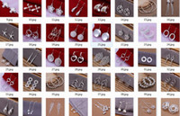 Wholesale Cuff Earrings Mixed - Mix Multi Style Hot Sale 925 Silver Earring Jewelry Woman Lady's Gilrs Earring Drop Earring Stud Cuff Beads Earrings Factory Price