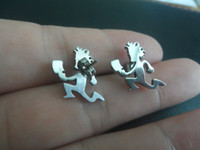 Wholesale Icp Hatchetman - 10pairs hot selling performer Hatchet man stainless Steel hatchetman charms Earring studs ICP for XMAS jewelry