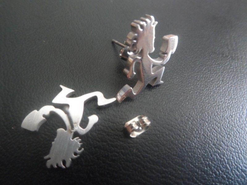 di vendita calda performer Hatchet man charms in acciaio inox hatchetman Borchie orecchini ICP gioielli XMAS