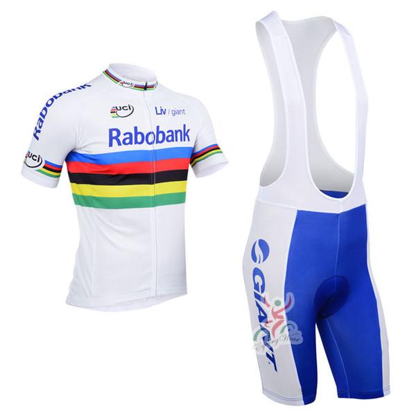 2013 rabobank Team cycling jersey/ cycling clothing/ cycling wear+shorts bib suit-rabobank-2A Free Shipping