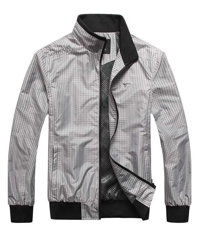 Новая осень Зимние куртки мужчин стоячим воротником Бизнес Тонкий Мужчины Куртки Куртка