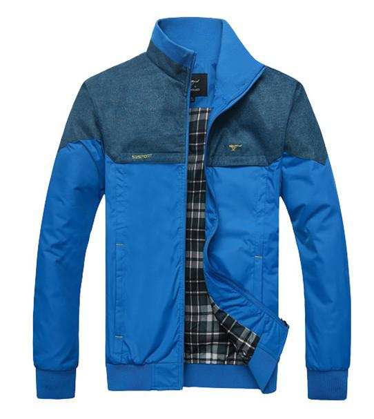 New Autumn Winter Men's Stand-Up Collar Jackets Slim Outerwear Jackets