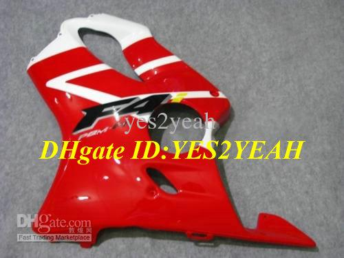Body kit for HONDA CBR600F4I 01 02 03 CBR 600 F4I CBR600 F4I CBR600 2001 2002 2003 red white Fairings kit+gifts HY28