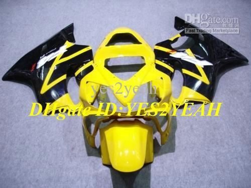 Motorcycle Fairing set for HONDA CBR600F4I 01 02 03 CBR 600 F4I CBR600 F4I CBR600 2001 2002 2003 gloss black yellow Fairings kit+7gifts