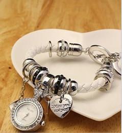 Wholesale Cz Blue Pendant - High quality New style CZ diamond pendant unique unisex Lady Bracelets watch Quartz watch Fashion Watch Q97