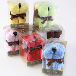 Wholesale Dog Style Cake Towel - 20*20 cm Snoopy Dog Style Cake Towel for Wedding and Birthday Gift Mix Order Free Shipping