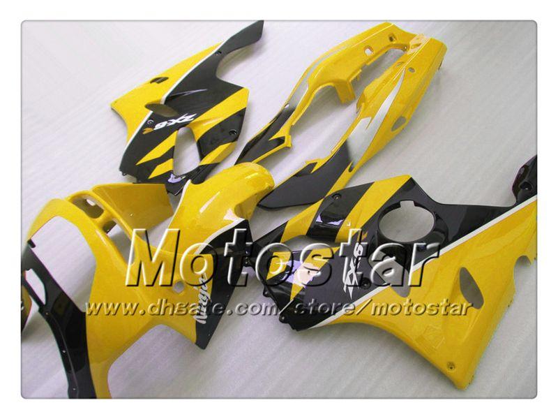 Carenatura lucido giallo nero lucido sk56 Kawasaki Ninja ZX 6R 1994 1995 1996 1997 ZX-6R ZX6R 94 95 96 97 carena aftermarket + 7gifts