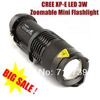 Wholesale Usa Portables - USA EU Hot Sel TK68 CREE XP-E LED Flashlight Portable Mini Flashlight Zoom flashlight Lamp For AA  14500 - Black