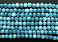 Wholesale Jade Color Stones - 300pcs lot 6mm loose solid lake blue color jade round natural stone agate beads