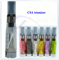 Wholesale Ce4 Crystal Atomizer - Wholesale 2000pcs CE4 Clearomizer with Crystal drip tip Colorful Atomizer for ego ego-t ego-c series FeDex DHL freeshipping