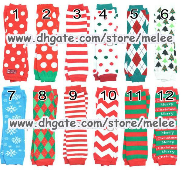 Christmas Gift Chevron Baby Leg Warmer infant colorful Santa leg warmer child socks Legging Tights Leg Warmers Arm warmers Zig-zag Leggings