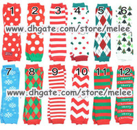 Wholesale Infant Socks Tights - Christmas Gift Chevron Baby Leg Warmer infant colorful Santa leg warmer child socks Legging Tights Leg Warmers Arm warmers Zig-zag Leggings