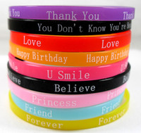 Wholesale New Directions Wholesaler - 100x New Design Mixed Silicone Bracelets   Wristbands Wholesale Kids Children's Birthday party Gift Favor One Direction Jewelry Lots