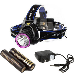 Wholesale U2 Led - 1set new 1800Lm CREE XM-L XML U2 12W LED Headlamp Rechargeable Headlight Head Light Lamp +2x18650 4000MAH Battery + Charger