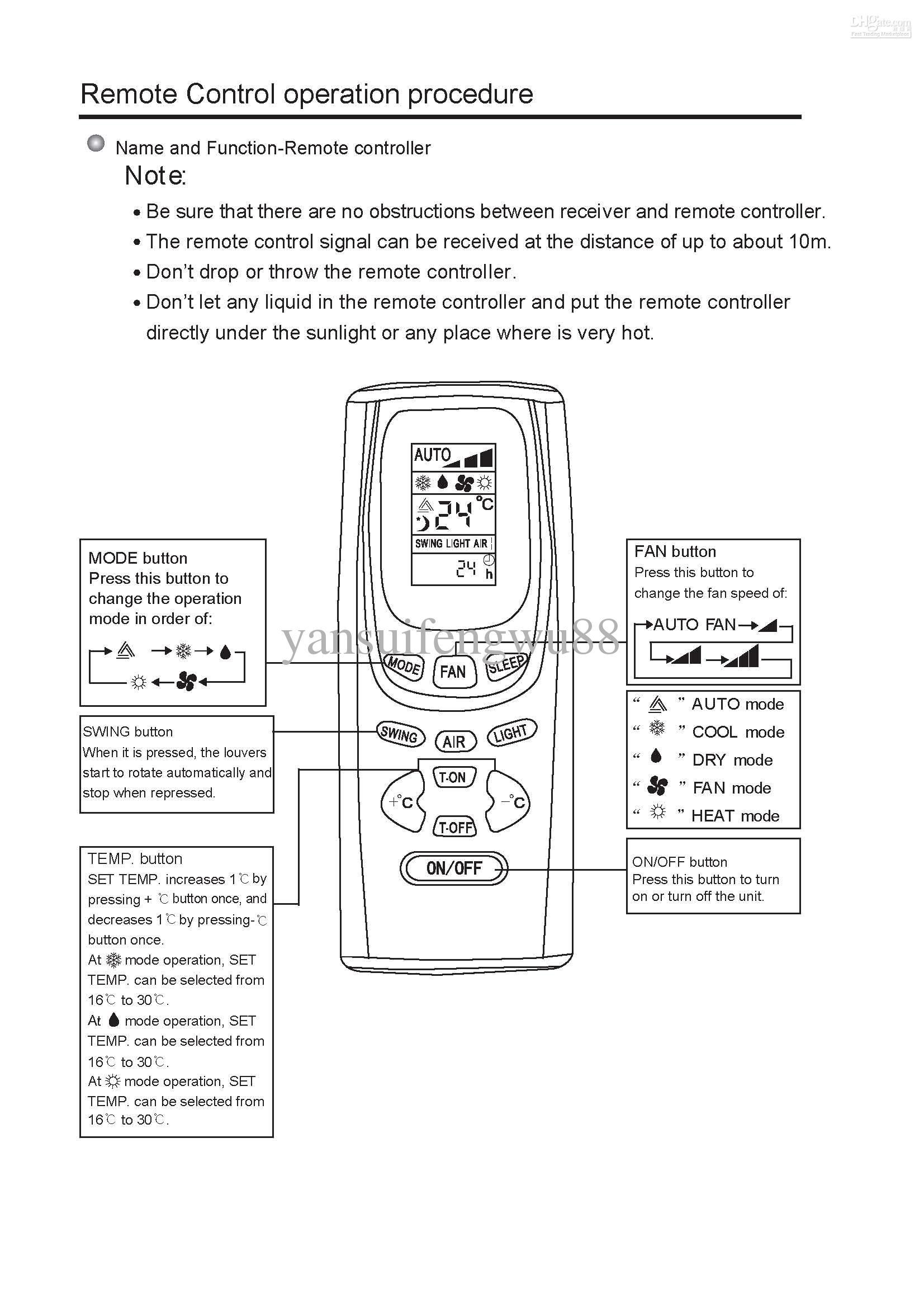 GREE кондиционер пульт дистанционного управления Y512F / Y512F2