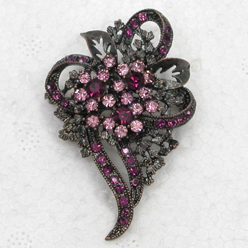 12pcs/lot Wholesale Crystal Rhinestone Bride Bridesmaid Wedding Party Prom Brooches Flower Pin Brooch Fashion Jewelry Gift C078