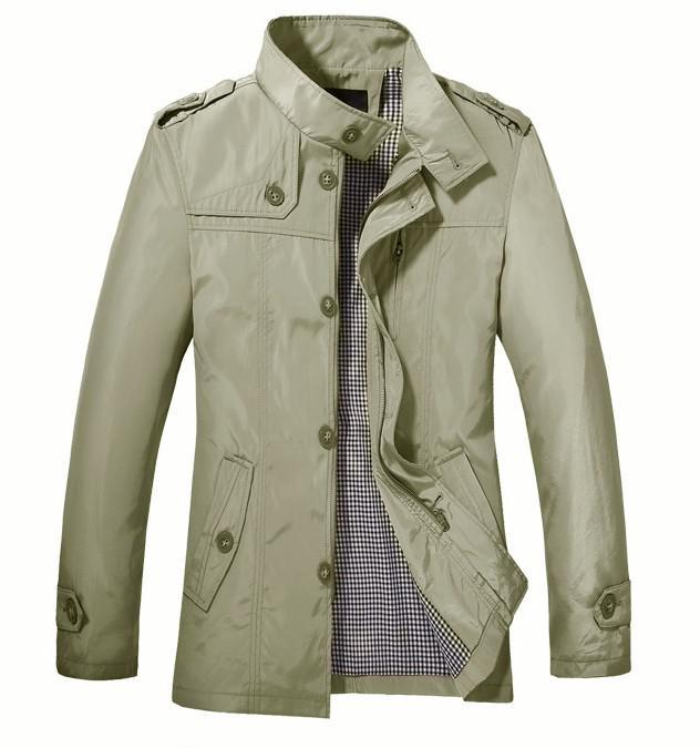 Spring Autumn New Jackets Men's Thin Outwear Jackets Stand-Up Collar Leisure Joker