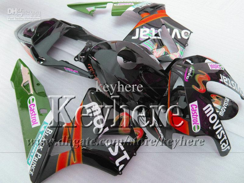 Kit de carenado plástico rojo movistar para Honda Injection 03 04 CBR600RR CBR-600RR carenado de moto 2003 2004 F5 CBR 600RR con 7gifts By46