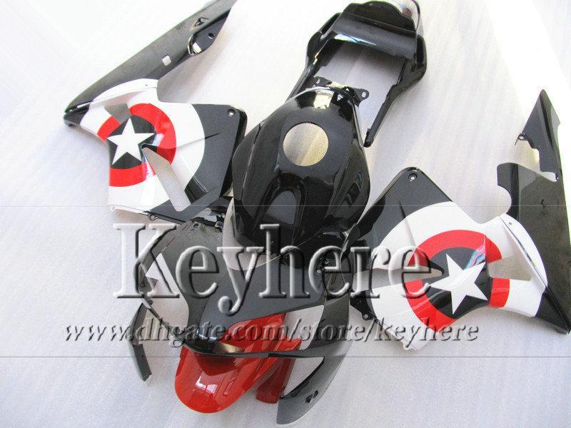 ABS Verkleidung Bodykit für CBR 600RR 03 04 Honda Injection schwarz rot weiß Neuware CBR-600RR 2003 F5 CBR600RR 2004 mit 7 Geschenken By48